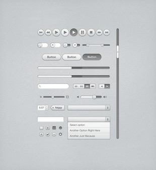 Gray UI kit for iTunes
