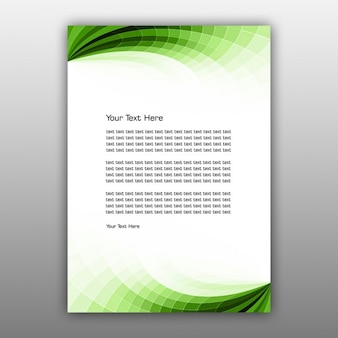 Green abstract brochure design