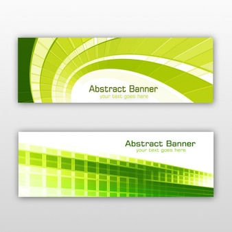 Green banners set