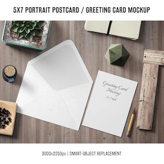 Макет поздравительной открытки