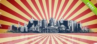 Grunge City PSD Background