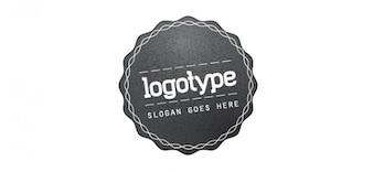 grunge logo vector template