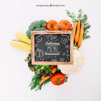 Healthy vegetarian mockup