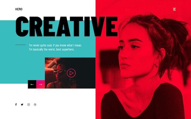 Hero headers creative modern
