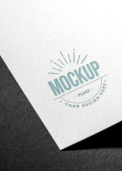 High view close-up business card mock-up