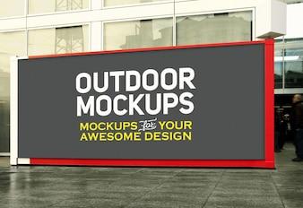 Horizontal outdoor panel mock up