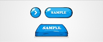 Illustrated Blue Buttons