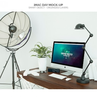 IMac day mock-up