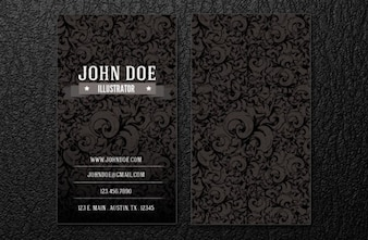 Intrincate business card template.