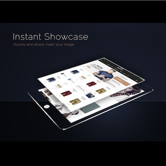 Ipad mock up with black background