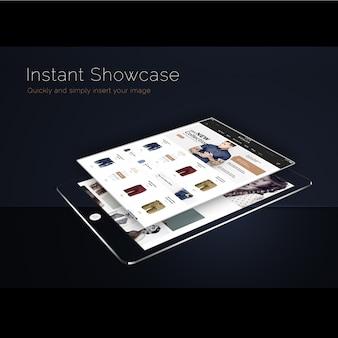 Ipadは黒の背景でモックアップ