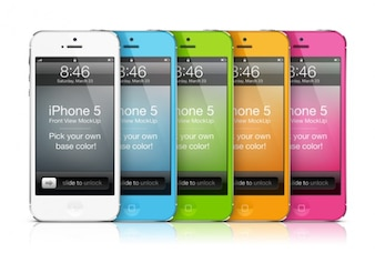 IPhone mockups with changeable color feature