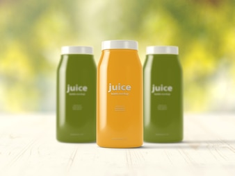 Juice bottles mock up