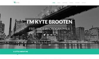 Kyte - Homepage PSD
