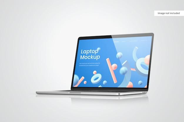 Laptop screen mockup side view
