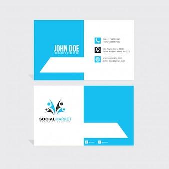 Light blue business card
