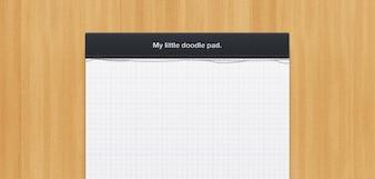 little notepad design  psd