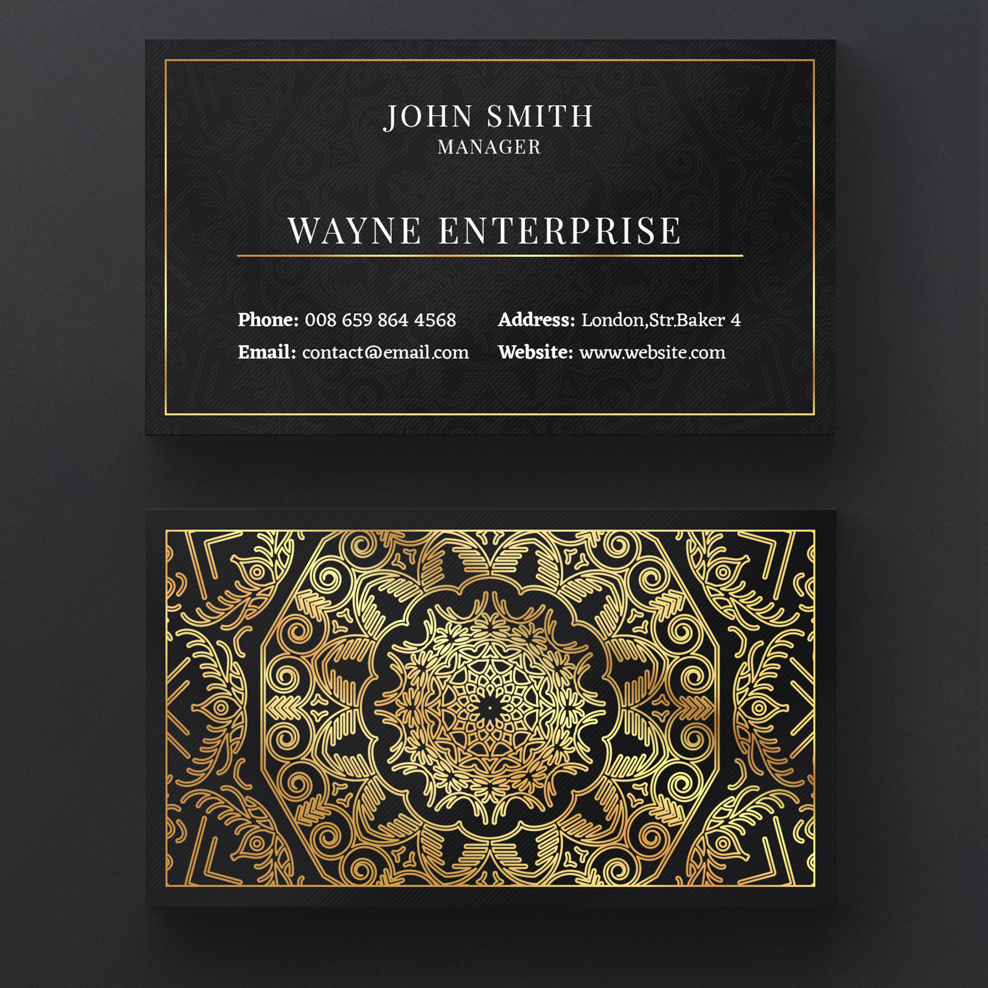 Luxury mandala business card