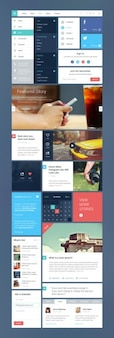 Magazine ui kit PSD template