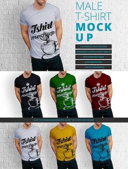 Male t-shirt mock up design