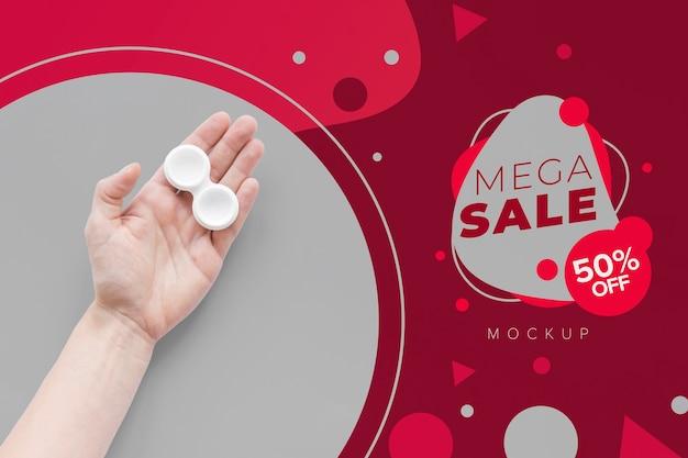 Mega sale optics still life arrangement