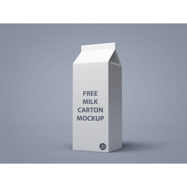 Milk packaging mock up