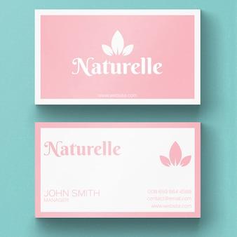 Minimal nature business card