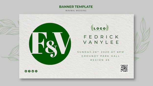 Minimal wedding save the date banner