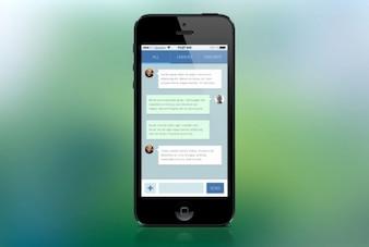 Mobile message board flat design