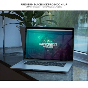Mock-up of macbookpro