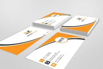 Mockup of four business cards