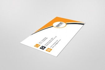 Mockup of singe business card