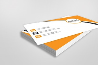 Mockup of stack of business cards