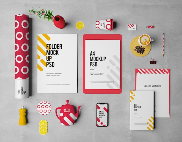 Mockup with business cards