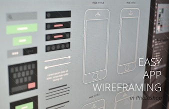 Modern App wireframe for Iphone