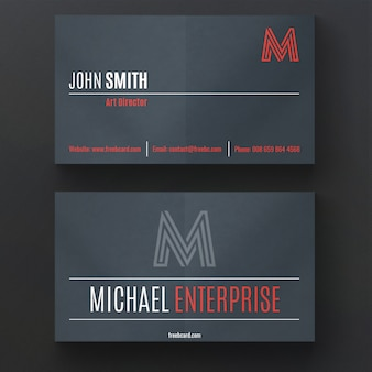 Modern business card with dark colors