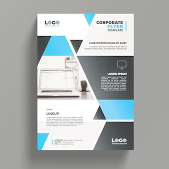 Modern business flyer mockup