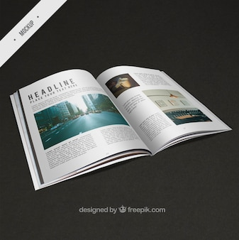 Modern mockup of magazine