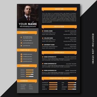 Modern professional resume cv template