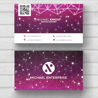 Modern tech business card