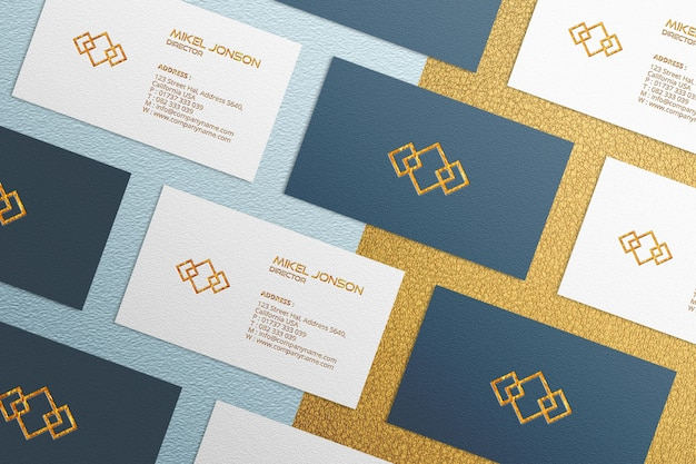 Multi styles business card mockup template
