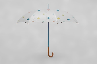 Multicolor umbrella mock up