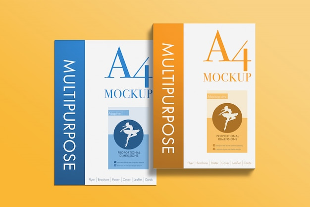 Multipurpose a4 papers mockup