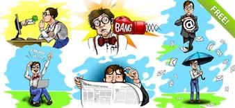 Nerd/geek Cartoon Characters