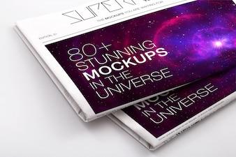 Newspaper mock up design
