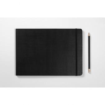 ノートブックは、デザインのモックアップ