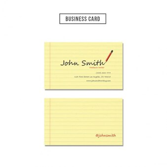 Notepaper style business card
