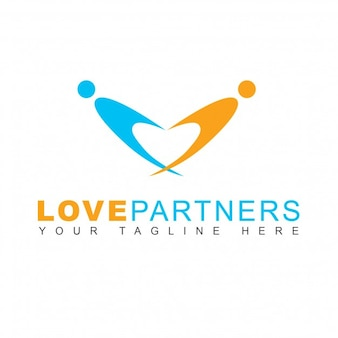 Orange and blue logo