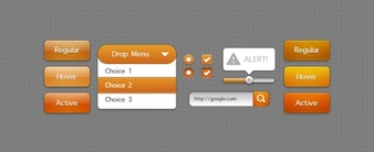 Orange Interactive Elements