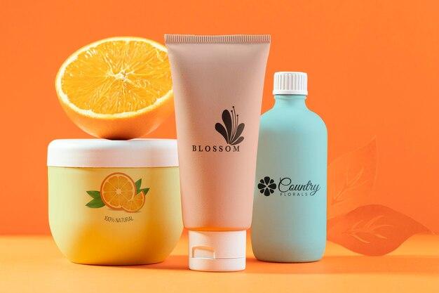 Organic orange juice cosmetics